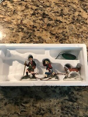 CLIMB EVERY MOUNTAIN with dog RETIRED ALPINE VILLAGE DEPT 56