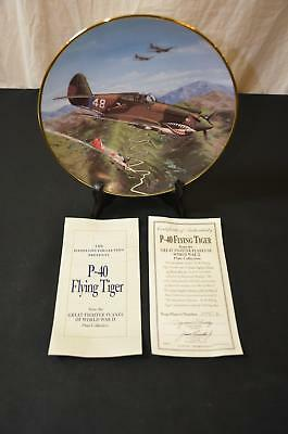 Plate P-40 Flying Tiger Hamilton Collection Great Fighter Planes WWII 1991 #1787