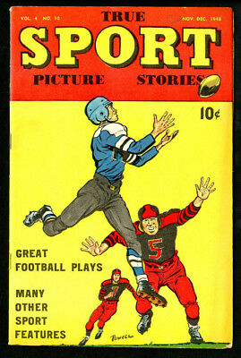 True Sport Picture Stories 1948 Great Football Plays Vol. 4 No. 10 - VG-EX