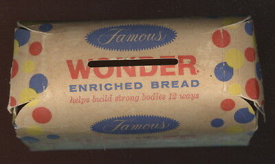 1950S Figural Loaf Of Bread Band, Famous Wonder Enriche Bread Advertising