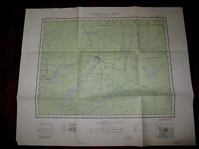 Armstrong Northwestern Ontario Topographical Map 1953 -Good - Moderate Wear