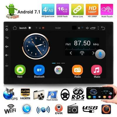 "7"" 2DIN Android 7.1 iPhone Quad Core 4G Car GPS Radio Stereo FM/MP5 Player Wifi"