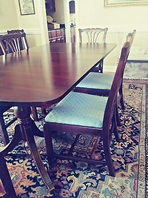 Mahgoany Dining Room Set W Buffet And China Cabinet