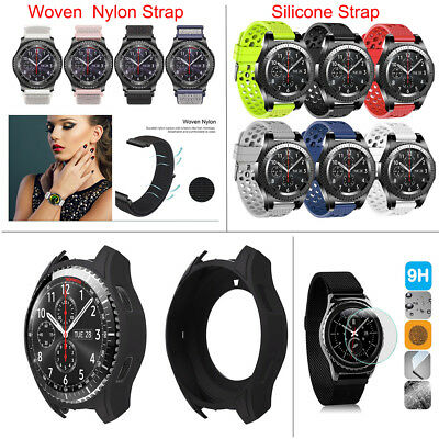 Silicone Nylon Woven Strap Watch Wrist Band For Samsung Gear S3 Frontier/Classic