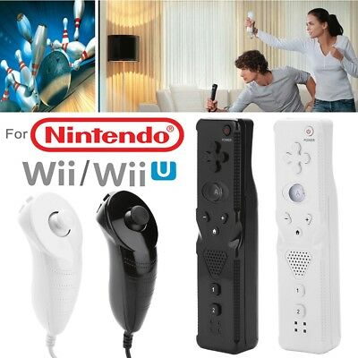For Nintendo Wii Console Built in Motion Plus Inside Remote +Nunchuck Controller