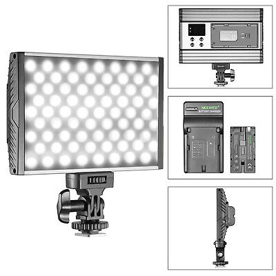Neewer Dimmable Bi-Color 144 LED Video Light with Battery for Canon Nikon Sony