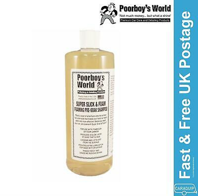 Poorboys Super Slick & Foam Pre-Soak Snow Foam Shampoo 32oz 946ml