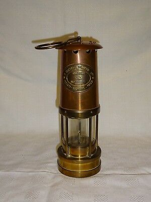 Vintage Brass & Copper Welsh Miners Davy Style Lamp Thomas Williams 31091
