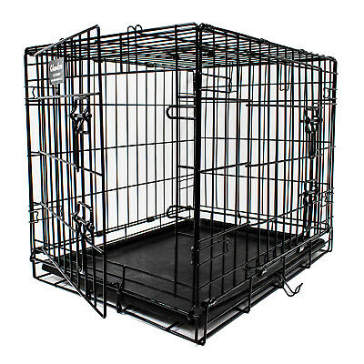 "24"" Pet Transport Cage for Dog & Pets - Two Door Metal Crate - Quality 4mm Wire"