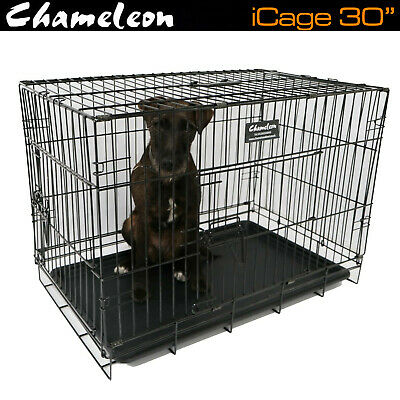 "30"" Dog Pet Rabbit Cage Puppy Training Crate Carrier - Premium Heavy Duty Wire"