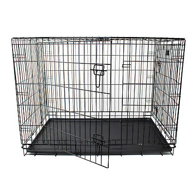 """48"""" Dog Pet Rabbit Cage Puppy Training Crate  Carrier - Premium Heavy Duty Wire"""