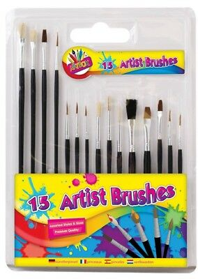 Children Kids Paint 7 Colour Painting Set Brushes Crafts Arts Artist Creative