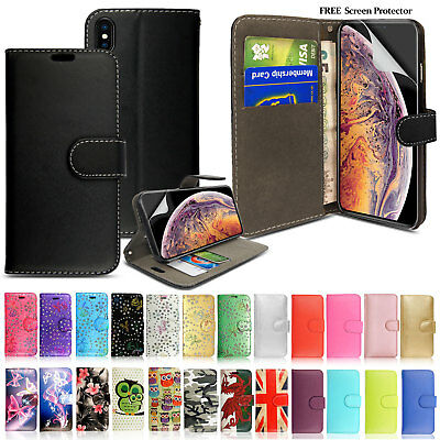 Apple iPhone XR XS Max XS Genuine Real Leather Wallet Case Best Flip Phone Cover