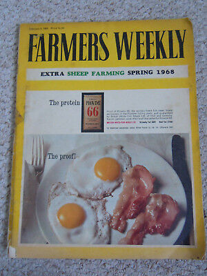 @Vintage Farmers Weekly Magazine February 2, 1968  @