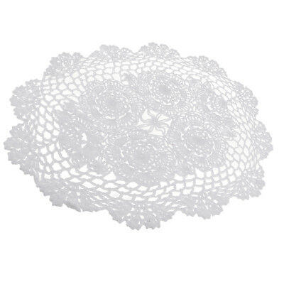 30x45cmOval Cotton Handmade Crochet Lace Doilies Coaster Cup Table Mat Doily