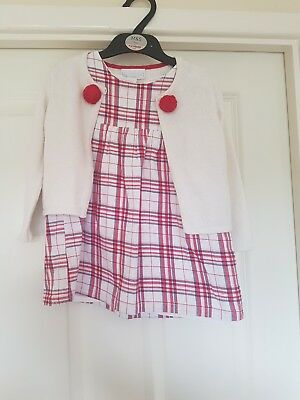 65c3b836a63a5 THE LITTLE WHITE Company Girls Dress And Cardigan Age 18-24 Months ...