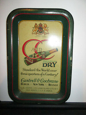 Cantrell & Cochrane Tray Ginger Ale Imperial Dry Dublin New York Belfast  C & C