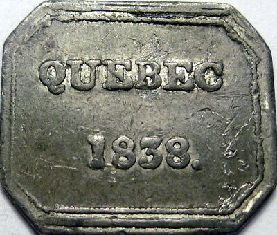 1838 Quebec City Canada East Communion Token St Johns Church