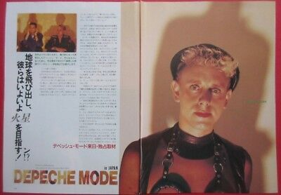 1986 DEPECHE MODE in JAPAN Martin Gore Dave Gahan MAGAZINE CLIPPING K3 T15 3PAGE