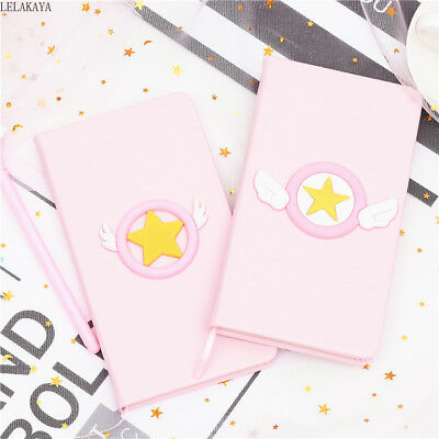 1pcs Card Captor Sakura Anime Printed Paper Notebook Daily Book with Pen Sets