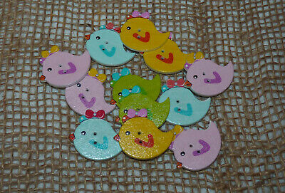 10/25 Christmas Penguin Buttons With  Bow Ties/ Scarf # Craft