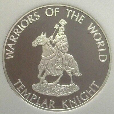 Warriors Of The World 2010 10 Francs - Templar Knight - Near Perfect Proof Dcam