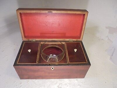 Antique Mahogany   Tea Caddy  Box , Georgian     ref  4445