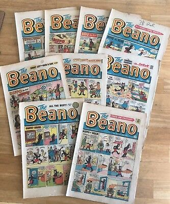 THE BEANO COMIC 1961 x 9 Issues End of Summer Sale