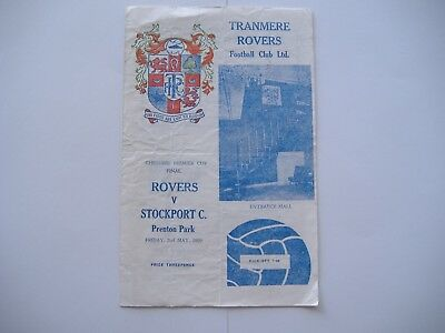 Tranmere Rovers v Stockport County, 2/5/1968, Cheshire Premier Cup Final.