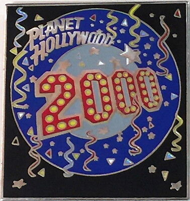 Planet Hollywood 2000 Millennium Happy New Year Square LOGO PIN with Confetti