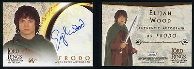 Topps Lord of The Rings Fellowship LOTR Elija Wood Frodo Autograph Auto Card