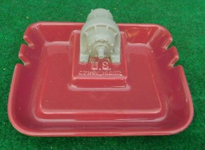 US Cyncrogear Electric Motor Advertising Ashtray Vintage Ceramics