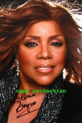 1832 Gloria Gaynor, Autogramm Foto, I Will Survive, The Eye of the Tiger