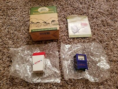 1998 Hallmark Kiddie Car Classics Newspaper Box & Trash Can New NIB