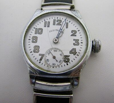 Vintage Mens Art Deco Illinois Wristwatch Watch