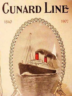 1907__CUNARD__LINE__IMMIGRANTS__ __3rd_CLASS__STEERAGE____ SCHEDULES__&__COSTS__