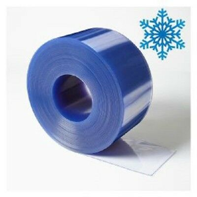 "Clear Plastic PVC Door Strip Freezer Curtain 12"" Wide x .120 x 12'"