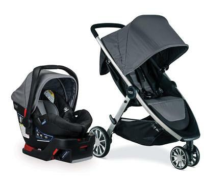Britax B-Lively Stroller & B-Safe 35 Car Seat Travel System Dove New B-Agile