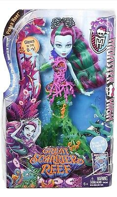 Monster High Great Scarrier Reef Posea Doll Lagoona Blue Glow In The Dark Effect