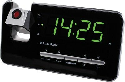 Audiosonic Radio Alarm Clock Pll Tuning CL1492 Sleep Timer Calendar