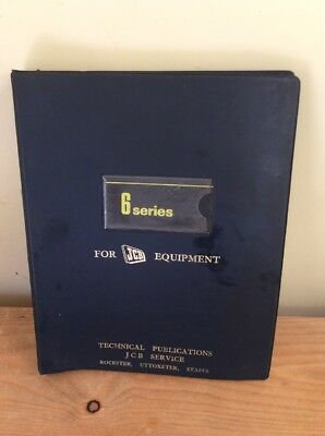 Jcb Official Technical Service Manual - 6 Series .dated 1969.
