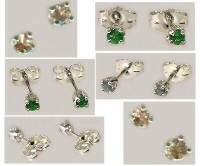 19thC Antique Handcrafted Genuine Natural Russian Color-Change Alexandrite Studs