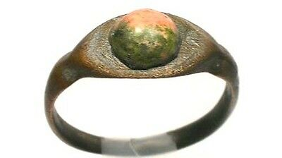 AD300 Roman Carthage (Tunisia) Ring Sz9¾ + Antique 19thC 2ct Russian Unakite Gem