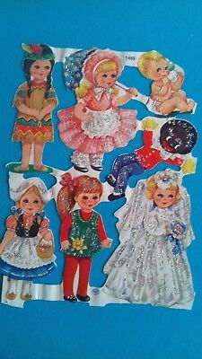 GLITTER   Vintage scrap used    CHILDREN AT PLAY  NO 1489