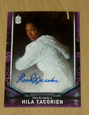 2018 Topps Doctor Who signature series AUTOGRAPH Kemi-Bo Jacobs