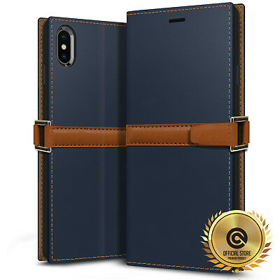OBLIQ® iPhone XR/XS Max [Z2 Wallet] Hand Made Leather Case Folio 3 Cards