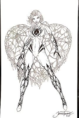Jamie Tyndall White Widow Published Original Art Cover
