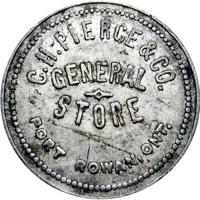 Port Rowan Ontario Canada Good For Token C H Pierce & Co 25 Cents