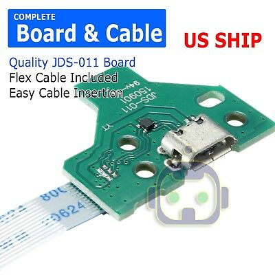 12 Pin Charge Port JDS-011 Board + Flex Cable for PS4 Controller A221