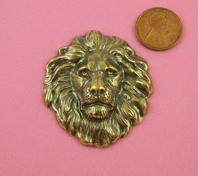 VINTAGE DESIGN ANT BRASS LARGE LION'S HEAD - 1 PC(s)